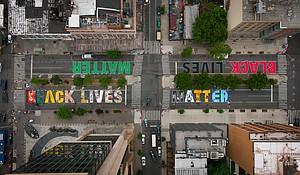 Black Lives Matter mural in Harlem