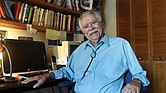 "Author Rudolfo Anaya poses for a photograph in his New Mexico home writing studio in June 2016. Mr. Anaya, who helped launch the 1970s Chicano literature movement with his novel, ""Bless Me, Ultima,"" died Sunday, June 28, 2020, after a long illness."