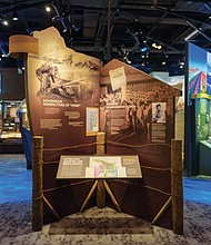 The Experience Oregon exhibit at the Oregon Historical Society, downtown, confronts many of the hardships and successes for diverse populations who have called the state their home, including American Americans, Japanese Americans and Indigenous peoples. The museum is re-opening on Saturday under new safety protocols to protect for the health of staff and visitors during the coronavirus pandemic.