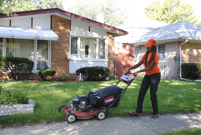 The Zuccarelli Assistance Program (ZAP), named after Thornton Township Supervisor Frank M. Zuccarelli, services seniors who are unable to mow their own lawns, using labor from teens who are paid per lawn. Photo courtesy of Thornton Township