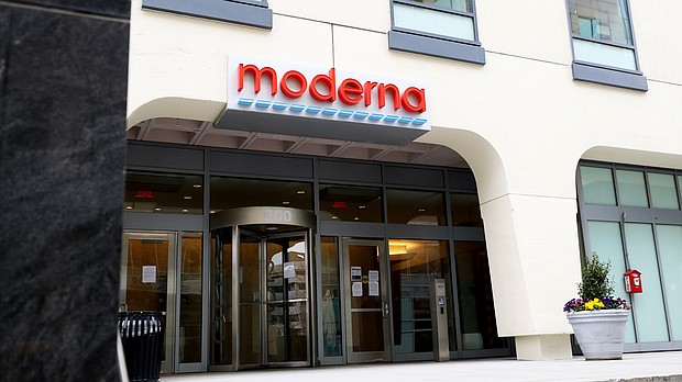 A Covid-19 vaccine developed by the biotechnology company Moderna has been found to induce immune responses in all of the volunteers who received it in a Phase 1 study. The image shows Moderna headquarters on May 08, 2020 in Cambridge, Massachusetts.