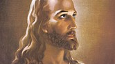 "Painting by Warner Sallman, ""Head of Christ,"" © 1941 Warner Press Inc., Anderson, Ind."