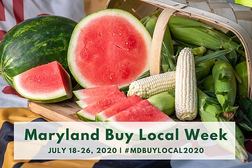 "Governor Larry Hogan officially named July 18-26 ""Maryland Buy Local Week"" to support Maryland farms and seafood operations that continue ..."