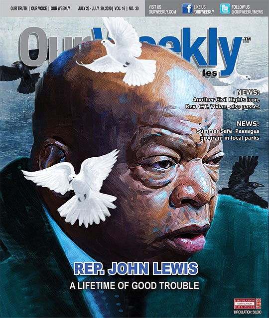 Rep. John Robert Lewis, (D-Ga.) the son of Alabama sharecroppers who survived a..
