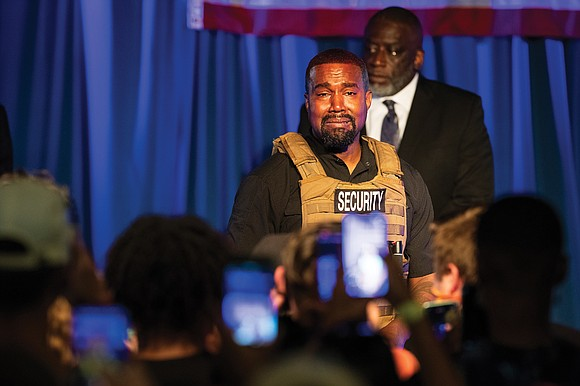 In his first rally for his last-minute presidential campaign, rapper Kanye West ranted against abortion and pornography, argued policy with ...