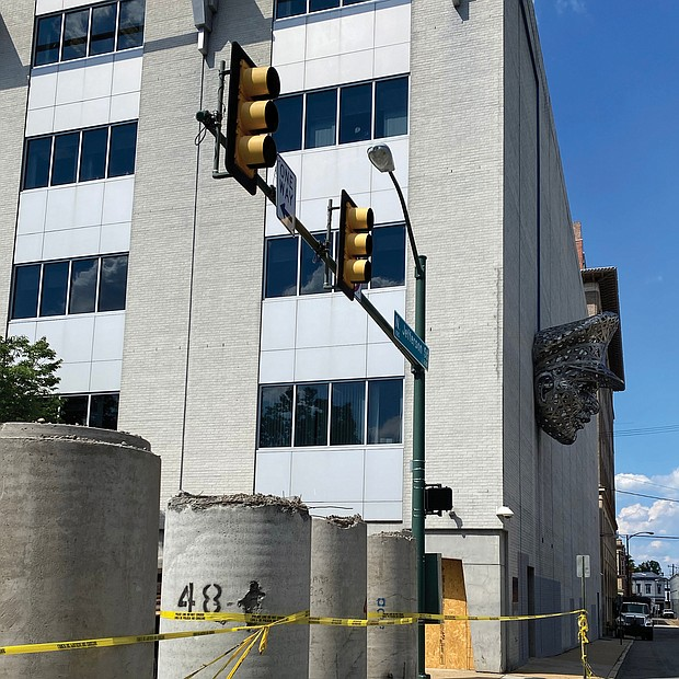 Grace Street once again is open in front of Richmond Police Department's Headquarters at 200 W. Grace St. Concrete barriers filled with gravel blocked traffic beginning around June 16.