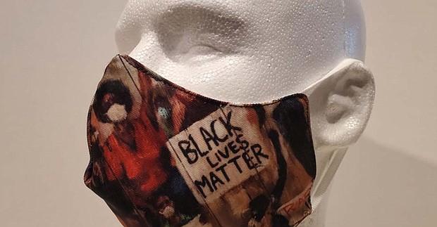 Black Lives Matter Mask by Ted Ellis
