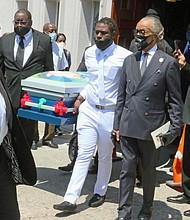 Rev Al Sharpton attends the funeral service for 1-year- Davell Gardner