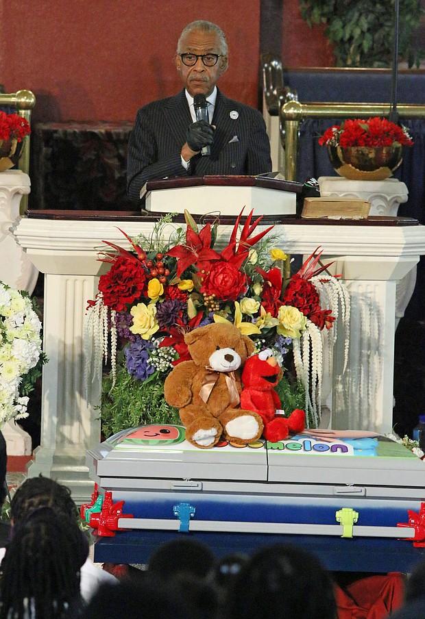 Rev. Al Sharpton delivered the eulogy for 1-year-old Davell Gardner