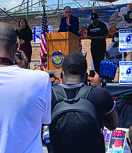 Cook County Board President Toni Preckwinkle addresses the crowd at the Let Our Kids Live event, which was hosted by the Austin Peoples Action Center. Photo courtesy of Let Our Kids Live