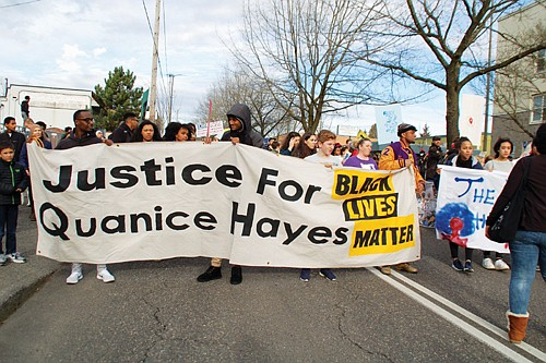 Community action group Don't Shoot Portland presents Stop Killing Us: A Black Lives Still Matter multimedia installation