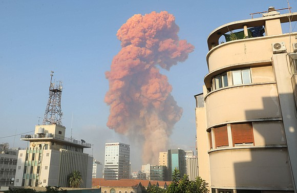 A massive explosion rocked the Lebanese capital of Beirut on Tuesday evening, leaving at least at least 100 dead and ...