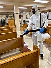 The DISINFECT-IT team utilizes a tested and certified environment-friendly fog- ging process with EPA registered ULV Spray System. This form of remediation represents the singular focus of their business.