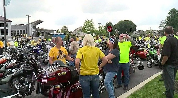 """I don't want to call it an event,"" said host Brendan Veale. ""It's a prayer ride."" On bikes, in cars, ..."