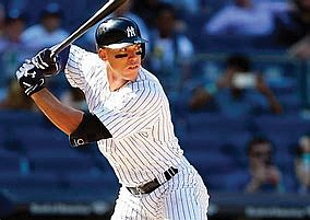 Everything about Aaron Judge is labeled extra-large.