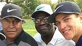 Golfer Cameron Champ, right, with his dad, Jeff Champ, left, and his late grandfather, Mack Champ.