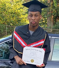 Justice Heughan graduated from P-TECH Carver Vocational High School in Baltimore last year with an associate's degree in Computer Information Science. He said it took a real commitment, lots of hard work, and dedication to achieve the milestone.