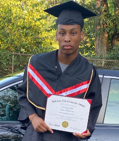 Justice Heughan graduated from P- TECH Carver Vocational High School in Baltimore last year with an associate's degree in Computer ...
