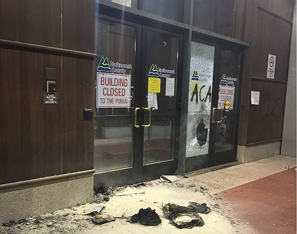 Multnomah County District Attorney Mike Schmidt is condemning the violence that broke out at the Multnomah County building in southeast ...