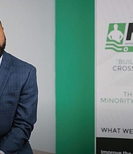 Nate McCoy, executive director of the Oregon chapter of the National Association of Minority Contractors, gives an update on the successful diverse workforce used at all levels of construction for the renovation of the Oregon Convention Center.
