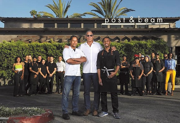 The culinary team behind the South Los Angeles eatery Post & Beam received the Los Angeles Times..
