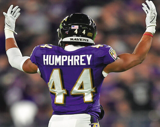 Baltimore Ravens cornerback Marlon Humphreys is from a family of athletes. He took advantage of his family situation during the off-season to workout with his siblings