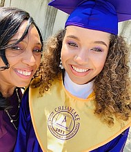 Sherise Houlden at her daughter Autumn Joi Williams' high school graduation.