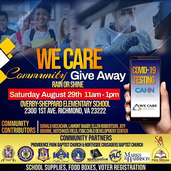 A coalition of eight North Side churches is sponsoring the annual WE CARE Community Giveaway from 11 a.m. to 1 ...