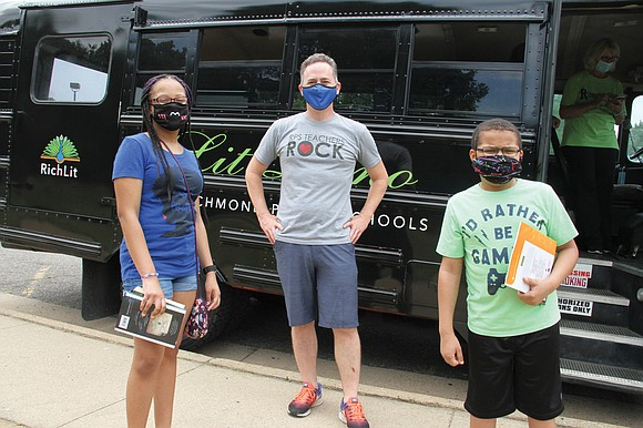 """When Richmond Public Schools'""""Lit Limo"""" literacy bus cruised to neighborhoods across the city delivering books and activities in English and ..."""
