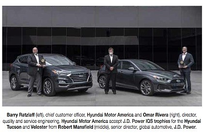 The J.D. Power 2020 U.S. Initial Quality Study (IQS) ranked Hyundai Tucson as the best com- pact SUV in initial ...