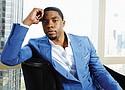 Actor Chadwick Boseman poses for a portrait in 2014. Boseman, who played Black icons Jackie Robinson and James Brown before finding fame as the regal Black Panther in the Marvel cinematic universe, has died of cancer. He was 43. (AP photo)