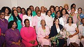 Vice presidential nominee Kamala Harris with members of Alpha Kappa Alpha Sorority at an event in July 2019 in Atlantic City.