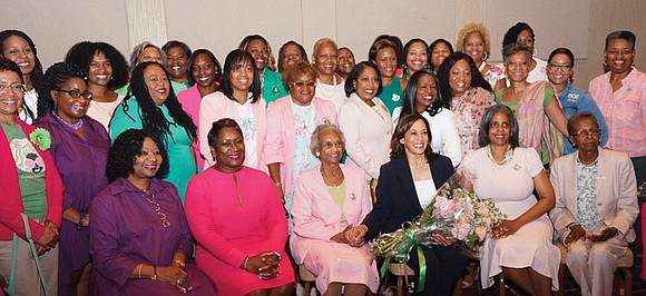 Members of six area Alpha Kappa Alpha Sorority chapters put on their pearls and Chuck Taylor sneakers Wednesday evening and ...