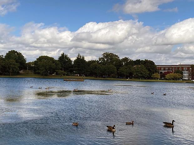 Fountain Lake in Byrd Park