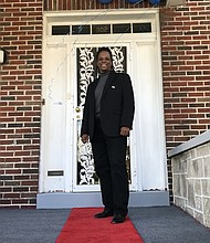 The door to recovery. Light of Truth (LTC) Founder Vaile Leonard pictured in front of one of the organization's locations.