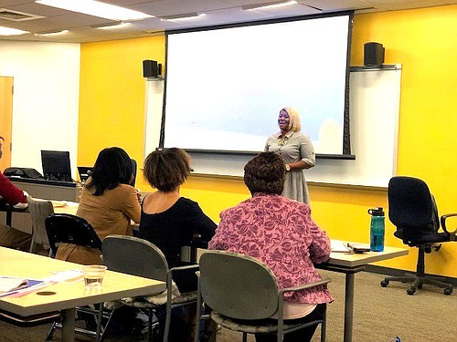 LaQuicha Brown, owner of BerriesbyQuicha, during Mind Your Business. The event is one of many sponsored by PNC Bank to provide women with financial wellness tools.