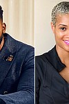Sunday II Sunday haircare line Founder and CEO Keenan Beasley and Director of Research & Development Dr. Jennifer Davis Alexander, PhD./Credit:	Infinite Looks Inc.