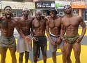 Right to left bottom picture: Broly Gainz (Darryl Campbell), Irvin John (The Fitness Journals), Kevin (The Kevin Speaks), Bam Baam and Matthew (Muscle Memory Fitness).
