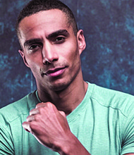 "Actor Mahdi Cocci plays Tom, a medical doctor in the new Tyler Perry series ""Bruh"" on BET+"