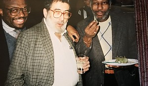 Stanley Crouch (left), Nat Hentoff (middle) and Herb Boyd (right)