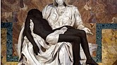 Jesus is a Black man in this depiction of the Pietà sculpture by Michelangelo.