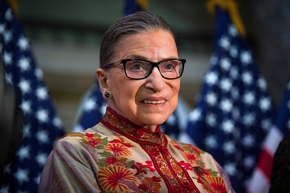 "Hours after learning of the death of Supreme Court Justice Ruth Bader Ginsburg President Donald Trump said, ""She led an ..."