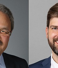 Criminal justice system reforms will be the topic Thursday, Oct.8 when Rep. Lew Frederick (left) of Portland and new Multnomah County District Attorney Mike Schmidt will discuss criminal justice system report during a virtual forum on Thursday, Oct. 8.