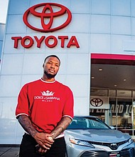 Damian Lillard introduces himself as the new co-owner of Damian Lillard Toyota in McMinnville.