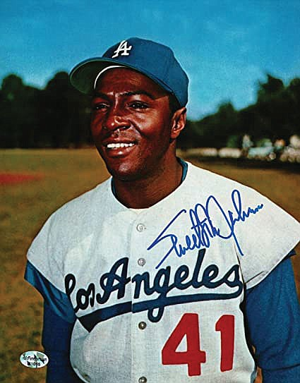 """Sweet Lou"" Johnson, who hit a key home run for the victorious Los Angeles Dodgers.."