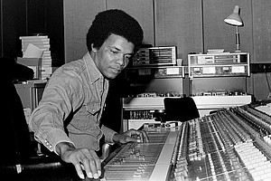 Johnny Nash, seen here in a 1975 photo taken at Whitfield Street Studios in London, died Tuesday morning, his son, John Nash, told CNN. Credit:Tom Sheehan/Sony Music Archive via Getty Images