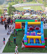 STAR's annual community block party turned Health Festi- val. Originally started in a pavilion in Druid Hill Park, the Health Festival now takes place in Eager Park with the help of multiple partners.