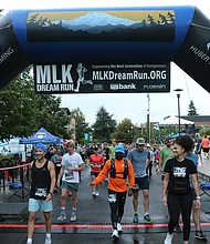Last year's MLK Dream Run brought participants to the starting line at Portland Community College's Cascade Campus. This year's event is going virtual with participants having from Wednesday, Oct. 14 until Saturday, Oct. 31 to complete a running or walking course of the person's choosing and to submit the result. (Photo from MLK Dream Run Facebook page)
