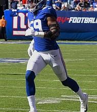 Giants linebacker Lorenzo Carter