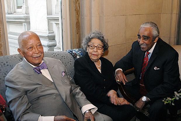 Mayor David Dinkins, Joyce Dinkins and Cong. Charlie Rangel